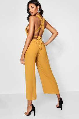 302c7f350022 boohoo Yellow Wide Leg Trousers For Women - ShopStyle UK