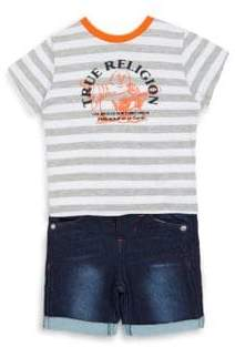 True Religion Baby's Two-Piece T-Shirt & Shorts Set