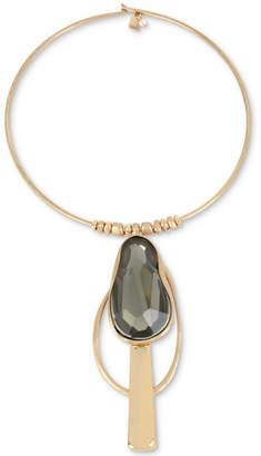 "Robert Lee Morris Soho Gold-Tone Stone Geometric 18"" Pendant Necklace"