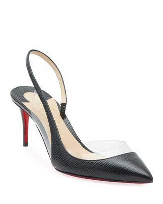 Christian Louboutin OptiSexy Asymmetric Red Sole Slingback Pumps
