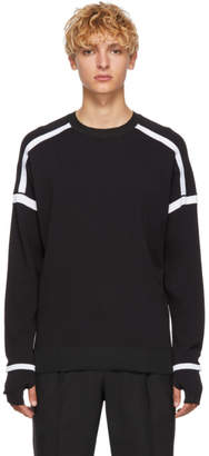 BLACKBARRETT by NEIL BARRETT Black and White Technical Sweatshirt