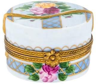 Limoges Porcelain Hat Trinket Box