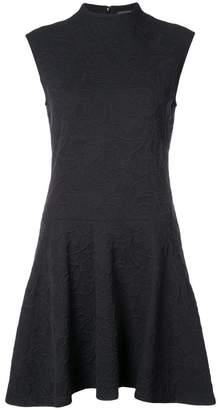 Josie Natori high neck ruffle dress
