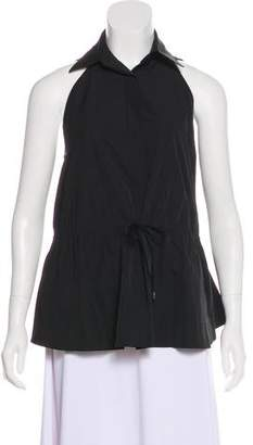 Alaia Sleeveless Button-Up Top