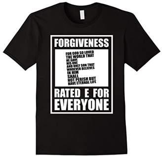 Christian Religious TShirt Forgiveness Rated E For Everyone