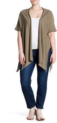 Modern Designer Split Side Short Sleeve Cardigan (Plus Size)