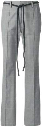 Off-White flat front trousers