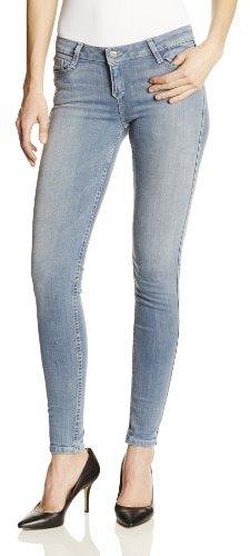 Bleu Lab BLEULAB Women's 8 Pocket Reversible Skinny Jean in Light Denim/Floral
