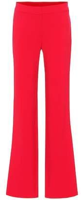 Carolina Herrera High-rise wide-leg wool-blend pants