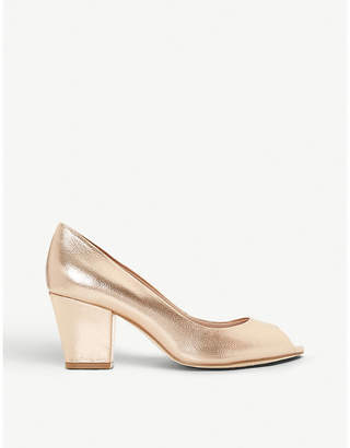 3445d25165 Dune Cathy peep-toe faux-leather courts