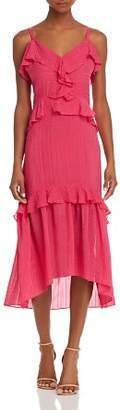 Parker Josie Ruffled Silk Dress
