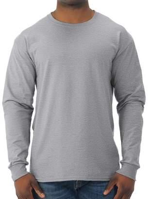 JERZEES Big Mens Dri-Power Long Sleeve Crewneck T Shirt