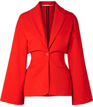 Rosetta Getty Stretch-ponte Blazer - Red