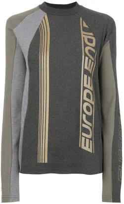 Gmbh colour-block logo sweater