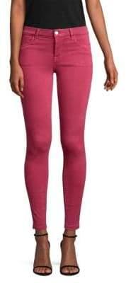 J Brand 620 Mid-Rise Raw Hem Super Skinny Jeans