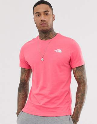 The North Face Simple Dome t-shirt in calypso coral