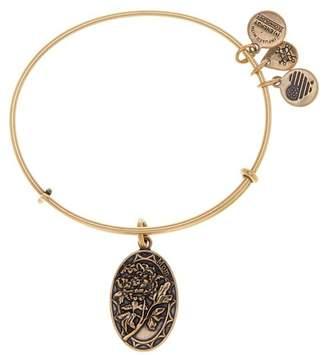 Alex and Ani Because I Love You Mom Rose Charm Expandable Wire Bangle Bracelet