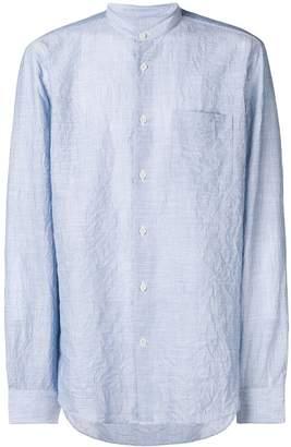 Mauro Grifoni striped mandarin collar shirt