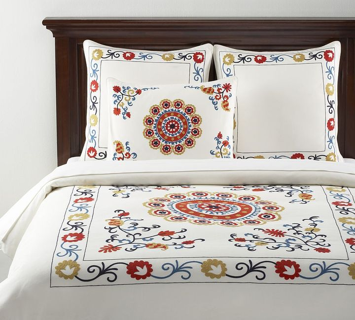 Suzani Embroidered Duvet Cover & Sham
