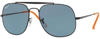 Ray-Ban The General Aviator Polarized Sunglasses, Black