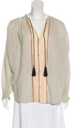 Giada Forte Striped Button-Up Blouse w/ Tags