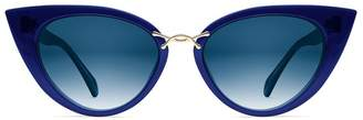 Oscar de la Renta X Morgenthal Frederics Oversized Twist Sunglasses