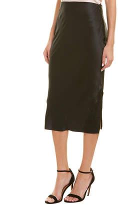 CAMI NYC Satin Silk Midi Skirt