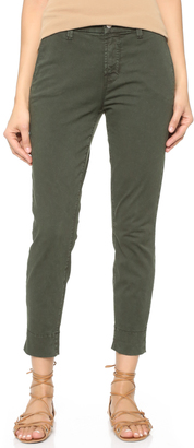 J Brand Josie Tapered Leg Trousers $198 thestylecure.com