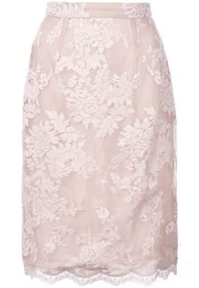 Marchesa lace detail skirt