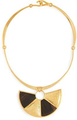 Joelle Gagnard KHARRAT Peacock wood and gold-plated brass necklace