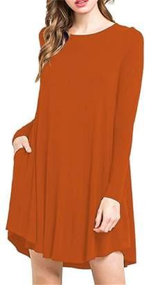 Hunter Bestisun Women's Strip T Shirt for Long Sleev Tshirt Modern Tunic Dresses Flowy Womens Holiday Shirts Womens Tunics High Low