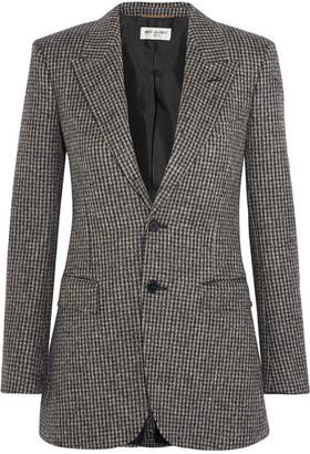 Saint Laurent - Angie Wool-tweed Blazer - Brown $2,990 thestylecure.com