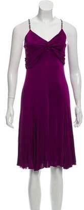 Versace Lace-Trimmed Midi Dress