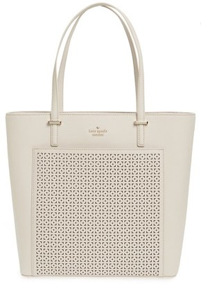 Kate Spade New York 'cedar Street - Tayler' Perforated Leather Tote $298 thestylecure.com