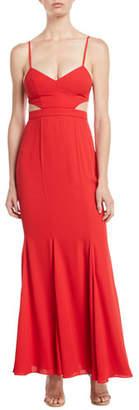 Fame & Partners Zyra Mermaid Slip Dress w/ Cutouts