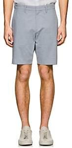 Theory Men's Evan Striped Oxford Cloth Shorts - Lt. Blue