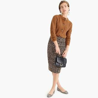 J.Crew No. 2 pencil skirt in two-way stretch leopard print
