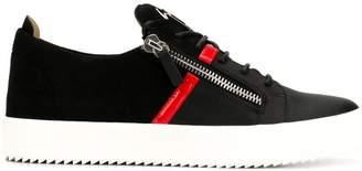 Giuseppe Zanotti contrast trim side zip sneakers
