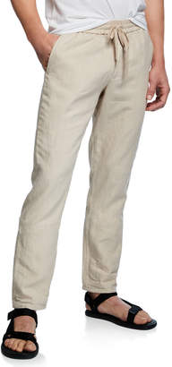Vince Men's Hemp Straight-Leg Pull-On Pants