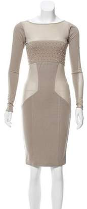 Thomas Wylde Stud-Embellished Sheath Dress