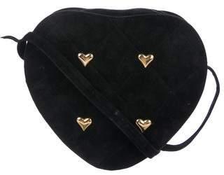Donald J Pliner Quilted Heart Shoulder Bag