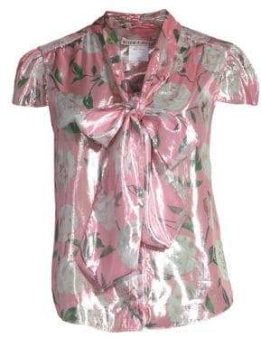 Alice + Olivia Jeannie Bow-Collar Blouse
