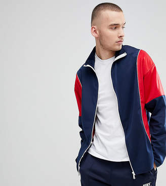 Reclaimed Vintage Inspired Track Jacket In Navy And Red