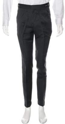Burberry Flat Front Wool & Silk Pants