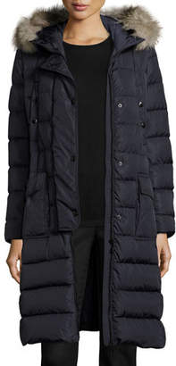 Moncler Khloe Quilted Puffer Coat w/Fur Hood $1,975 thestylecure.com