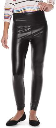 Tinseltown Juniors' Faux-Leather High-Waisted Pants