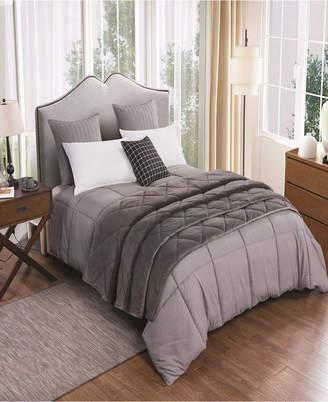 St. James Home 2pc Velvet Blanket and Down Alternative Comforter Set King Bedding