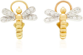 Montse Esteve 18K Gold Diamond Clip Earrings