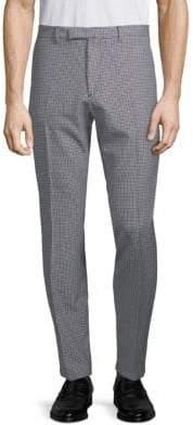 Valentino Checkered Wool Pants