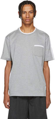 Thom Browne Grey and Navy Medium Weight T-Shirt